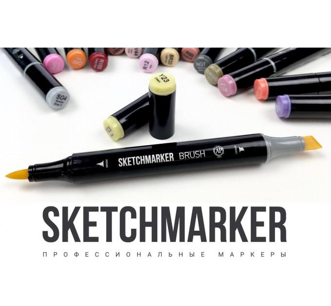 Набор маркеров SketchMarker Brush Кожа, телесный 12 шт, SMB-12SKIN