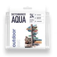 Акварельные маркеры набор SketchMarker Aqua Pro Outdoor, 24 цвет, SMA-24OUTD