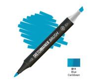 Маркер SketchMarker Brush B11 Blue Caribbean (Карибский синий) SMB-B11