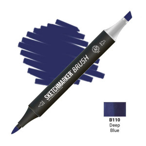 Маркер SketchMarker Brush B110 Deep Blue (Глубокий синий) SMB-B110