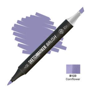 Маркер SketchMarker Brush B123 Cornflower (Василек) SMB-B123