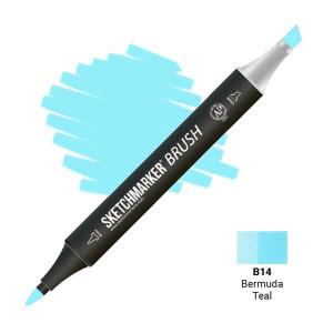 Маркер SketchMarker Brush B14 Bermuda Teal (Бермудская бирюза) SMB-B14