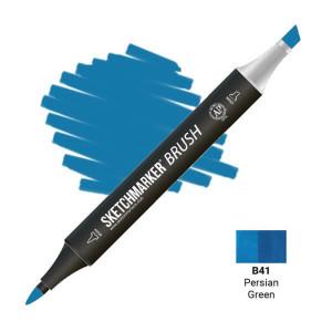 Маркер SketchMarker Brush B41 Persian Green (Персидский зеленый) SMB-B41