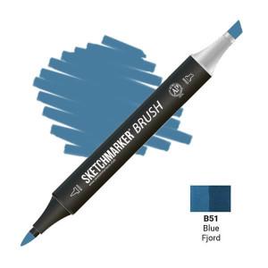 Маркер SketchMarker Brush B51 Синий фьорд SMB-B51