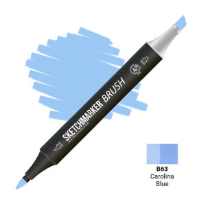 Маркер SketchMarker Brush B63 Carolina Blue (Синяя Каролина) SMB-B63