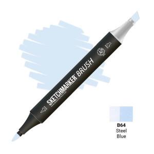 Маркер SketchMarker Brush B64 Steel Blue (Синяя сталь) SMB-B64