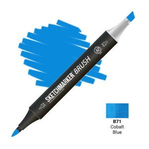Маркер SketchMarker Brush B71 Cobalt Blue (Голубой кобальт) SMB-B71