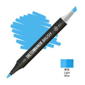 Маркер SketchMarker Brush B72 Light Blue (Голубой) SMB-B72