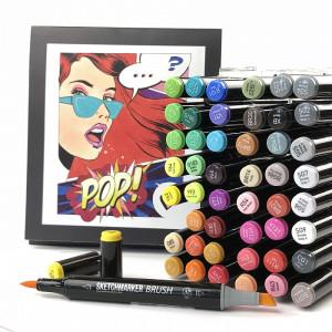 Набор маркеров SketchMarker Brush Pop Art Style - Поп Арт 48 шт. (В пластик. Кейсе), SMB-48POPART