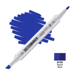 Маркер Sketchmarker B100 Royal Blue (Королевский синий) SM-B100