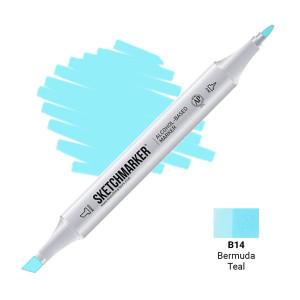 Маркер Sketchmarker B14 Bermuda Teal (Бермудская бирюза) SM-B14