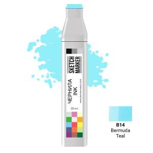 Чернила для маркеров SKETCHMARKER B14 заправка 20 мл Bermuda Teal (Бермудская бирюза)