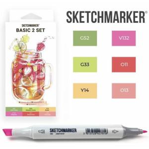 Маркеры SketchMarker набор 6 шт Basic 2 Базовые цвета 2, SM-6BAS2