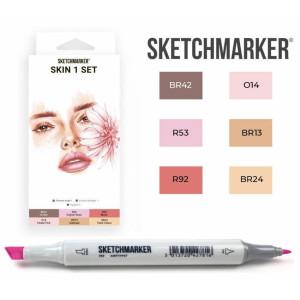 Маркеры SketchMarker набор 6 шт, Skin, Телесные SM-6SKIN1