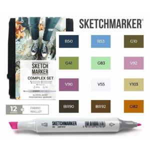 Маркеры SketchMarker набор 12 шт Complex, Комплекс, SM-12COMPX