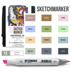 Маркеры SketchMarker набор 12 шт Universal, Универсальный, SM-12UNI
