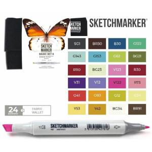 Маркеры SketchMarker набор 24 шт Basic 6 Базовые цвета 6, SM-24BAS6