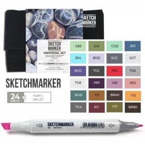 Маркеры SketchMarker набор 24 шт Universal, УниверсальныйSM-24UNI
