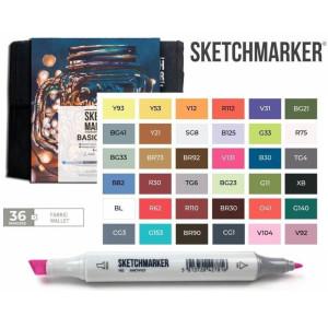 Маркеры SketchMarker набор 36 шт Basic 4 Базовые цвета 4, SM-36BAS4