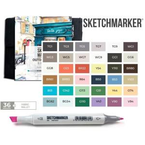 Маркеры SketchMarker набор 36 шт Outdoor, Пленэр SM-36OUTD
