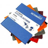 Скетчбук SketchMarker 163х163 мм 48 л 160 г, твердый переплет, Бледно-красный, MLHSQ / LRED