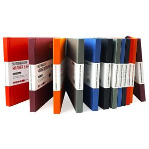 Скетчбук SketchMarker Marker & Graphic 163х163 мм 48 л 180 г, твердый переплет Блид.черв MGLHSQ / LRED