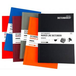 Скетчбук SketchMarker В5 44 л 160 г, твердый переплет, Бледно-красный, MLHM / LRED