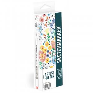 Набор Лайнеров SketchMarker ARTIST Fine Pen Basic 1, 12 цв AFP-12BAS1
