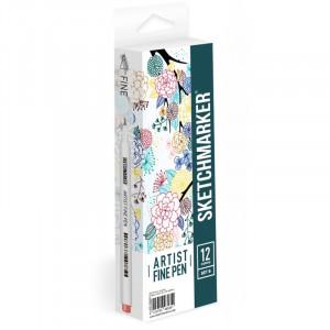 Набор Лайнеров SketchMarker ARTIST Fine Pen Basic 2, 12 цв AFP-12BAS2