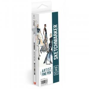 Набор Лайнеров SketchMarker ARTIST Fine Pen Basic 3, 12 цв AFP-12BAS3