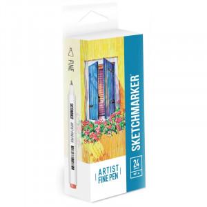 Набор Лайнеров SketchMarker ARTIST Fine Pen Basic 1, 24 цв AFP-24BAS1