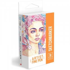 Набор Лайнеров SketchMarker ARTIST Fine Pen Basic 1, 36 б, AFP-36BAS1
