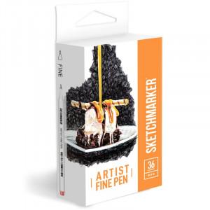 Набор Лайнеров SketchMarker ARTIST Fine Pen Basic 2, 36 цв AFP-36BAS2