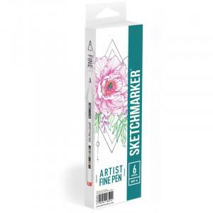 Набор Лайнеров SketchMarker ARTIST Fine Pen Basic 1, 6 цв AFP-6BAS1