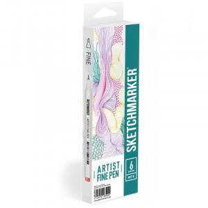 Набор Лайнеров SketchMarker ARTIST Fine Pen Basic 2, 6 цв AFP-6BAS2