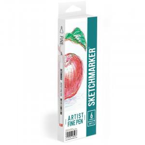 Набор Лайнеров SketchMarker ARTIST Fine Pen Basic 3, 6 цв AFP-6BAS3