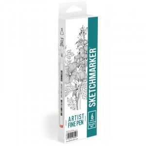 Набор Лайнеров SketchMarker ARTIST Fine Pen 6 цв AFP-6BLCK