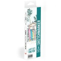 Набор Лайнеров SketchMarker ARTIST Fine Pen Light, 6 цв AFP-6LGHT