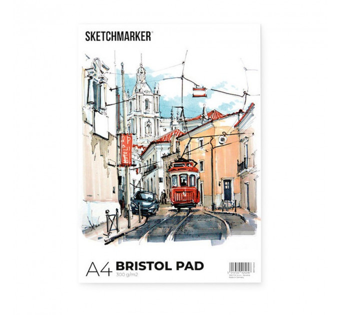 Склейка SKETCHMARKER BRISTOL PAD A4 (20 стр, 300 gsm), BRPADA4