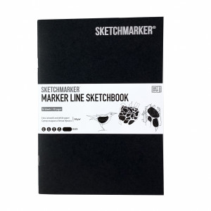 Скетчбук SketchMarker В5 16 листов, 160 г, черный, MLSM / BLACK