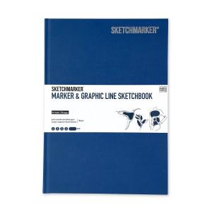 Скетчбук SketchMarker В5 44 листов, 180 г, синий, MGLHM / BLUE