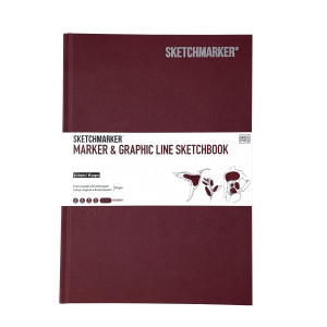 Скетчбук SketchMarker В5 44 листов, 180 г, слива, MGLHM / BURG
