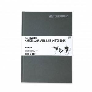 Скетчбук SketchMarker В5 44 листов, 180 г, серебряный, MGLHM / CHARC