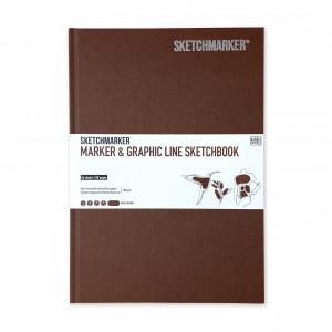 Скетчбук SketchMarker В5 44 листов, 180 г, коричневый, MGLHM / DBRWN