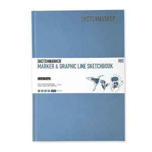 Скетчбук SketchMarker В5 44 листов, 180 г, светло-голубой, MGLHM / LBLUE