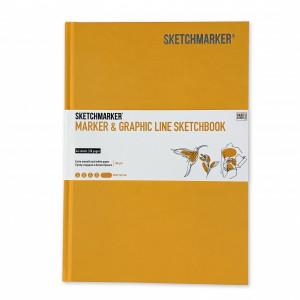 Скетчбук SketchMarker В5 44 листов, 180 г, желтый, MGLHM / MYELL