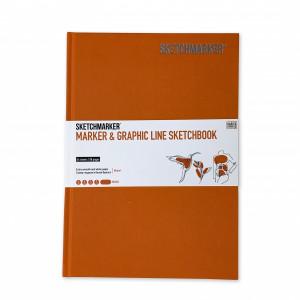 Скетчбук SketchMarker В5 44 листов, 180 г, оранжевый, MGLHM / ORAN