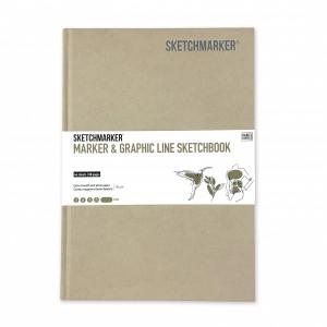 Скетчбук SketchMarker В5 44 листов, 180 г, бежевый, MGLHM / SAND