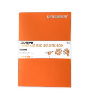 Скетчбук SketchMarker В5 16 листов, 180 г, оранжевый, MGLSM / ARAN
