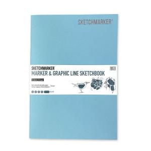 Скетчбук SketchMarker В5 16 листов, 180 г, Смеральда, MGLSM / SMER
